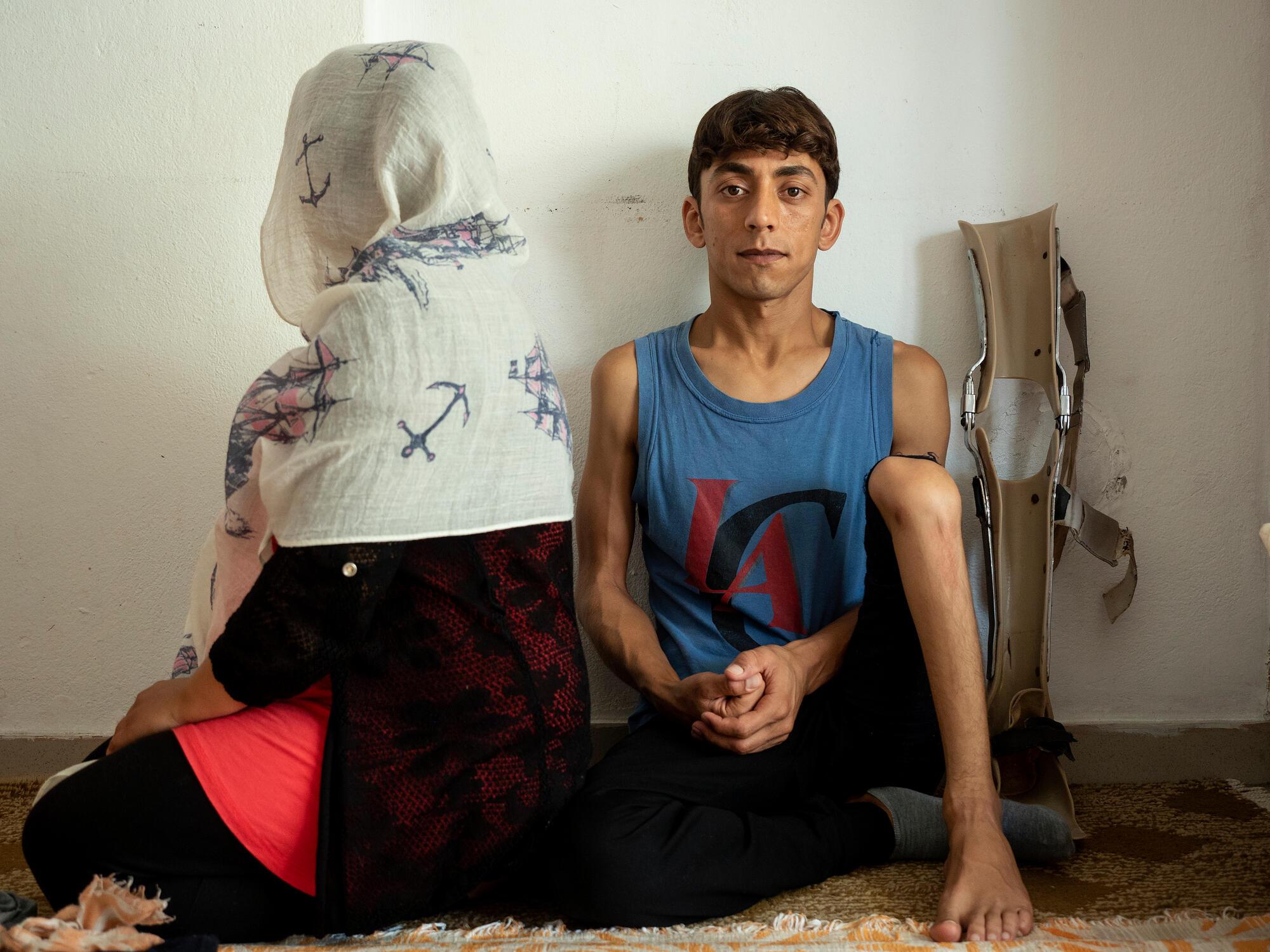 Portrait de Soma Sediqi et son mari, août 2020, crédit : Enri CANAJ/MAGNUM Photos